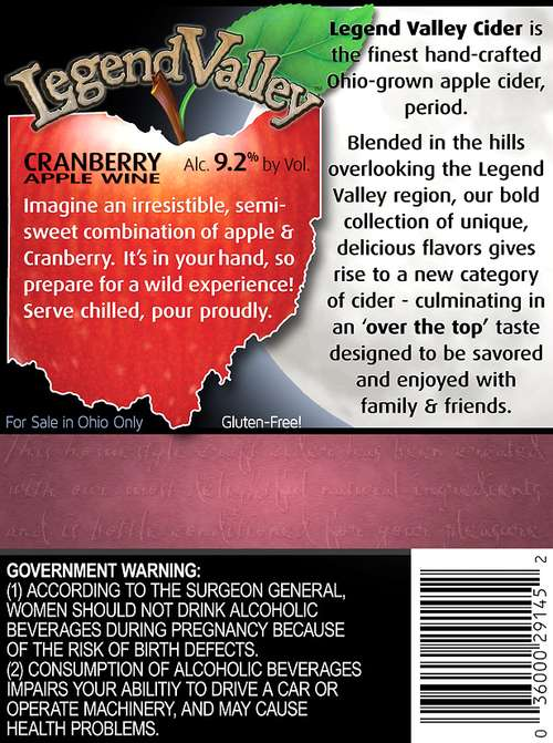 Legend Valley Beverage, Llc Cran Berry