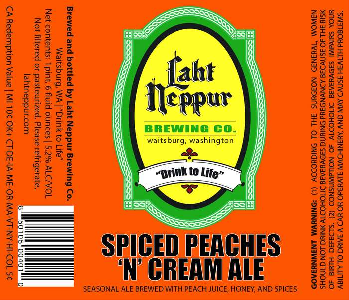 Laht Neppur Brewing Co Spiced Peaches 'n' Cream Ale