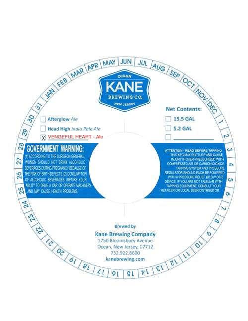 Kane Brewing Company Vengeful Heart
