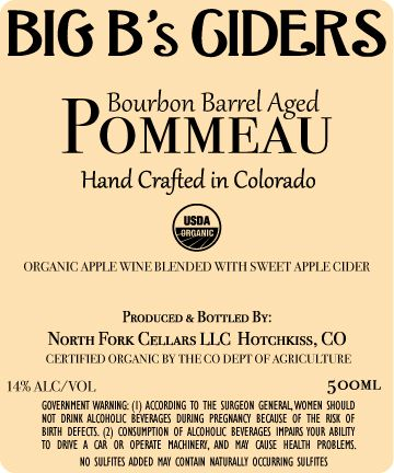 Big B's Ciders Barrel Aged Pommeau