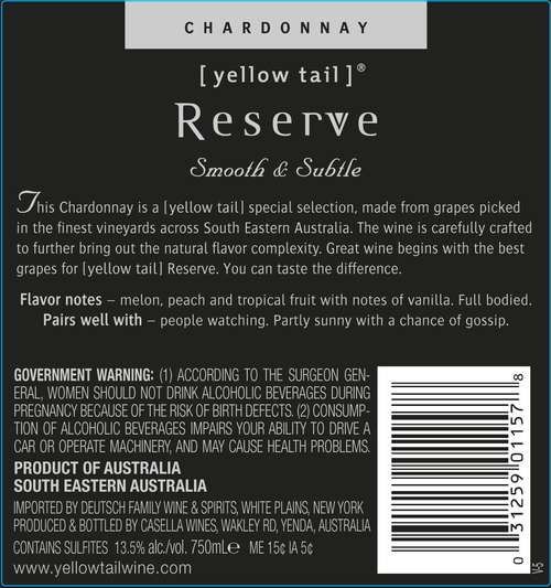 Yellow Tail Special Selection Reserve