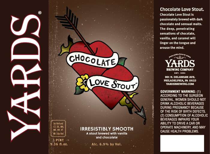 Yards Brewing Company Chocolate Love Stout