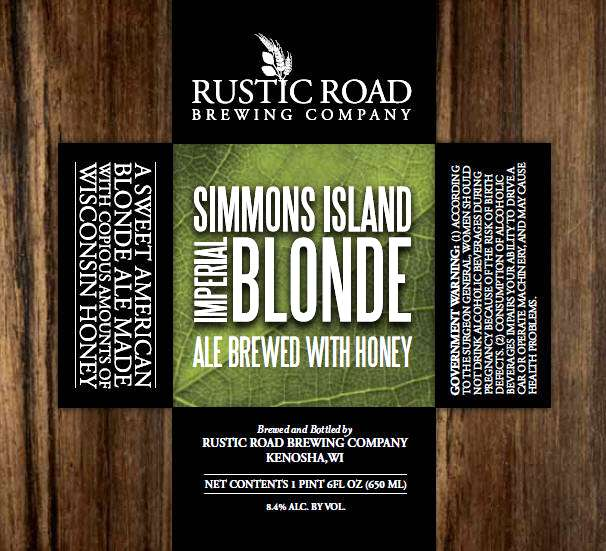 Rustic Road Brewing Company Simmons Island Imperial Blonde