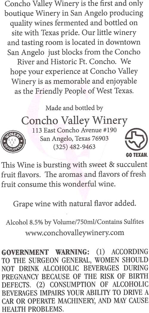 Concho Valley Winery