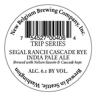 Trip Series Segal Ranch Cascade Rye India Pale Ale