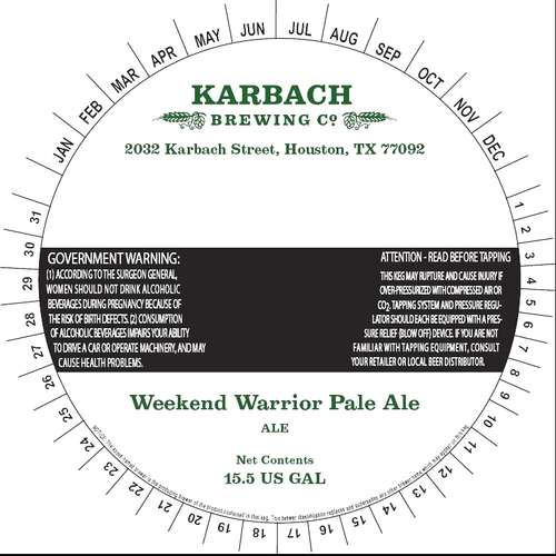 Karbach Brewing Co Weekend Warrior