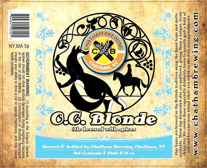 Chatham Brewing, Llc O.C. Blonde