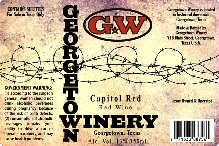 Georgetown Winery Cowboy Red