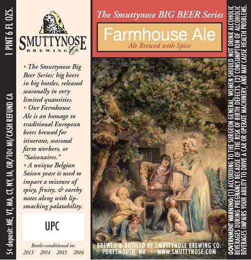 Smuttynose Brewing Co Farmhouse Ale