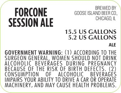 Goose Isand Beer Co Forcone Session Ale