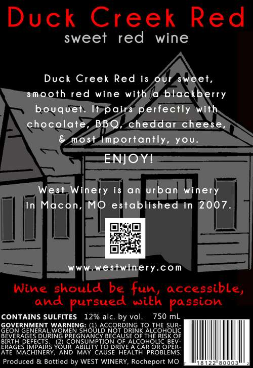 West Winery Duck Creek Red