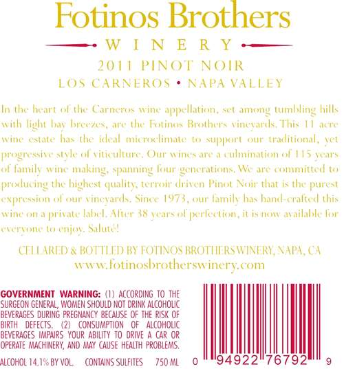 Fotinos Brothers Winery
