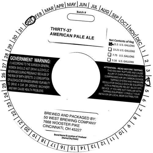 Fifty West Brewing Company Thirty-37
