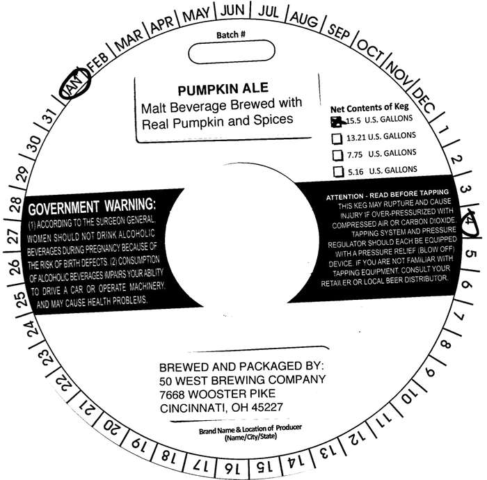 Fifty West Brewing Company Pumpkin Ale