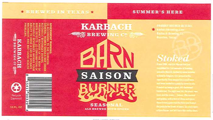 Karbach Brewing Co Barn Burner