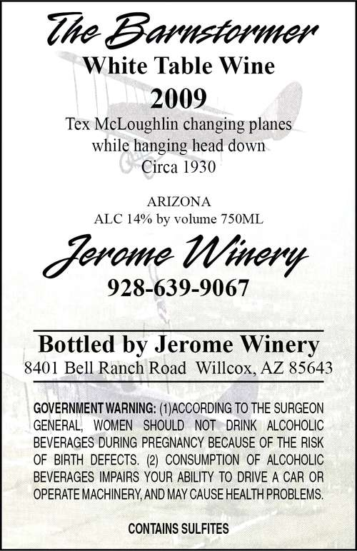Jerome Winery The Barnstormer