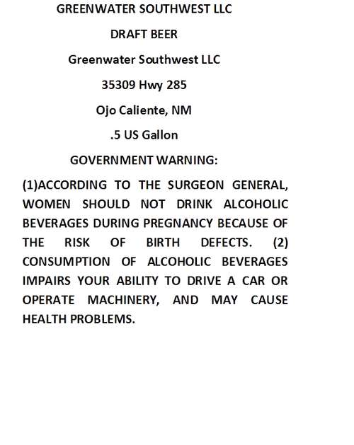 Greenwater Southwest Llc