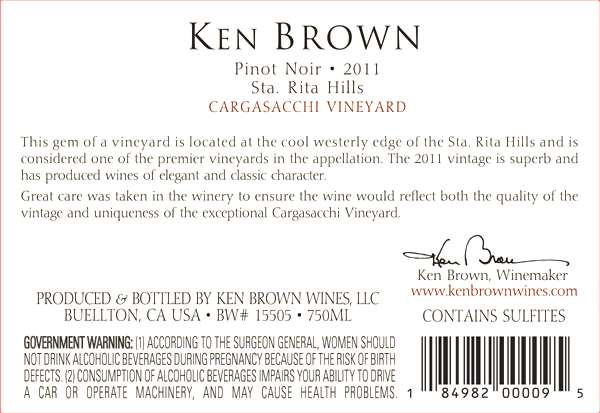 Ken Brown Cargasacchi Vineyard