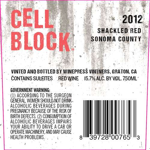 Cell Block Shackled Red
